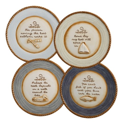 Grasslands Road Ceramic Lakeside Accent Plate Assortment, 9-Inch, Set Of 4