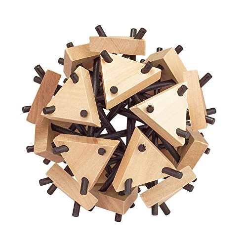 """Professor Puzzle Lab Test Cell 6"""" Wooden Puzzle with Extreme Difficulty Level for Teenagers and Adults"""