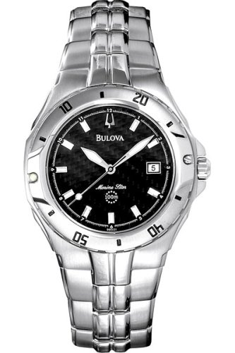 Bulova Men's Marine Star watch #96G21 (Bulova Carbon Fiber Watch compare prices)