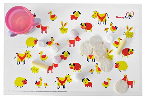 HunnyTots Disposable Placemats - #1 Best Baby, Toddlers & Kids Stick On Table Topper 60 Count (3 Bags Of 20) (Infant Steamer And Blender compare prices)