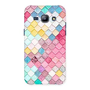 Rock Pattern Multicolor Back Case Cover for Galaxy J1
