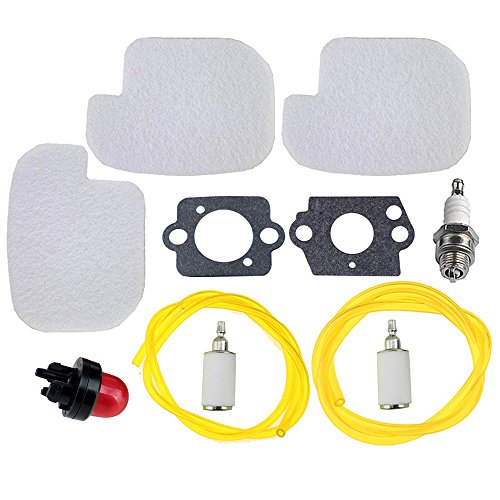 HIPA Air Filter with Fuel Repower Kit for Poulan P3314 P3416 P3816 P4018 PP3416 PP3516 PP3816 PP4018 PP4218 PPB3416 PPB4018 PPB4218 S1970 Gas Chainsaw (Poulan Chainsaw Parts Air Filter compare prices)