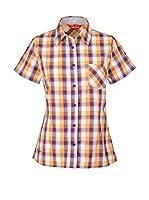 Lafuma Camisa Mujer Ld Check (Violeta / Beige / Blanco)