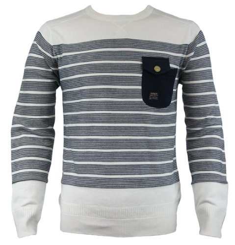 Duck and Cover 120116 Phoenix Mens Jumper AW12 Arran White XL