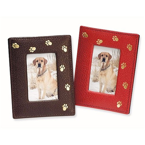 Pet Frame, Genuine Italian Leather, 2 3/4″ x 3 3/4″, Mocha