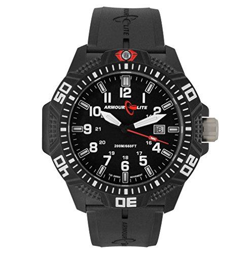 Armourlite-Caliber-Series-Polycarbon-Tritium-Watch-Black-Rubber-Band
