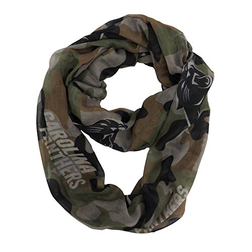 NFL Carolina Panthers Women's Camo Infinity Scarf, Green, One Size (Salute To Service Panthers compare prices)