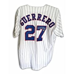Vladimir Guerrero Montreal Expos Autographed Hand Signed Russell Athletic Authentic...