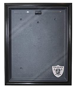 Oakland Raiders Cabinet Style Jersey Display, Black by Caseworks
