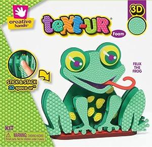 Fibre Craft - Creative Hands 3541E Text-Ur Foam Stand Up Kit, Frog