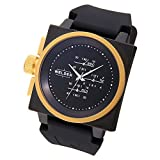 [ウェルダー]WELDER 腕時計 クオーツ クロノグラフ スモールセコンド ブラック×ブラックラバー K26-5102  【並行輸入品】