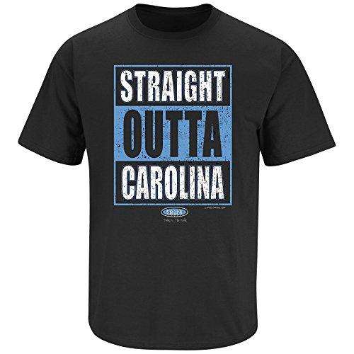 Carolina Panthers Fans. Straight Outta Carolina Black T Shirt (Sm-5X) (Large)