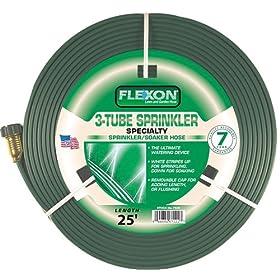 Flexon 25-Foot Three Tube Sprinkler Hose FS25