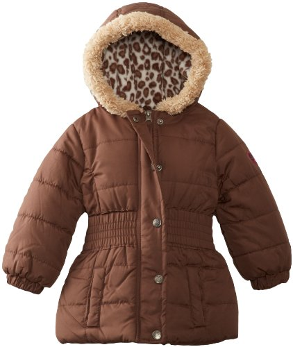 Pink Platinum Girls 2-6X Cheetah Puffer Jacket,