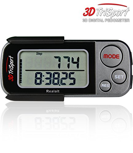 Sport Walking Pedometer with Clip and Strap