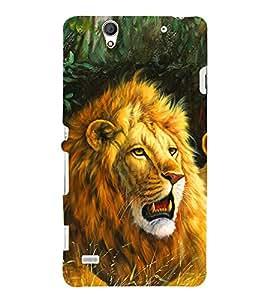 Roaring Lion 3D Hard Polycarbonate Designer Back Case Cover for Sony Xperia C4 Dual :: Sony Xperia C4 Dual E5333 E5343 E5363