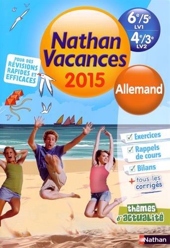 Cahier de vacances  - Allemand  LV2 4e - 3e et LV1 6e - 5e