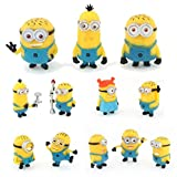 NEW 12Pcs Cute Despicable Me 2 Minions Movie Character Figures Doll Toy Gift Set