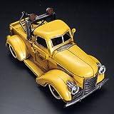 ブリキのおもちゃ・アンティーク調のレッカートラック・イエローPENNZOIL