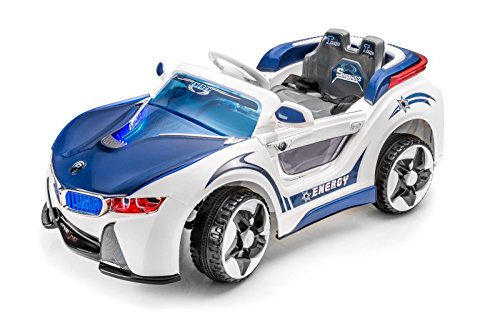 Power Bmw Style I-8 Kids Ride On Car Toy Electric Car With Remote Control With 2 Motors And 2 Batteries - Blue