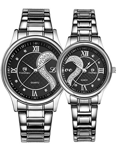2PCS-Watches-for-Lovers-and-Couples-Fashion-Stainless-Steel-Band-Wrist-Watches