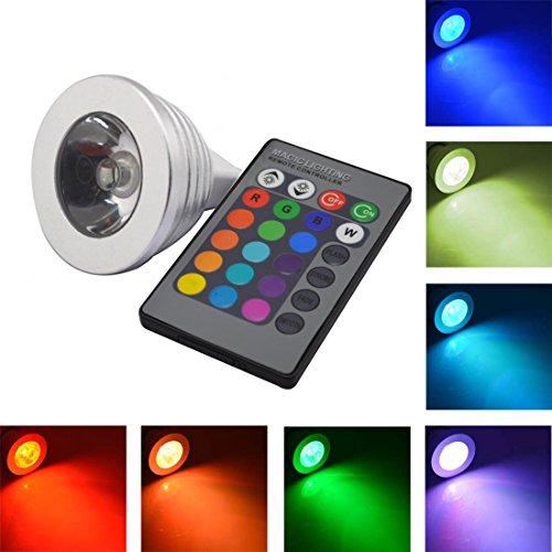 Grexistar 4W Mr16 16-Color Changing Rgb Led Spot Light Bulb Lamp Lights Ir Remote Control