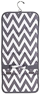 Ever Moda Hanging Travel Toiletry Cosmetic Organizer Storage Bag Collection (Chevron - Grey)