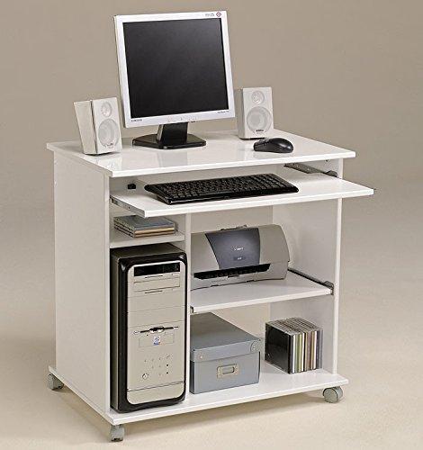 Computertisch weiss Pepe 1, 76x76x50cm, PC Tisch, Computerschrank, Schreibtisch, foliert online bestellen