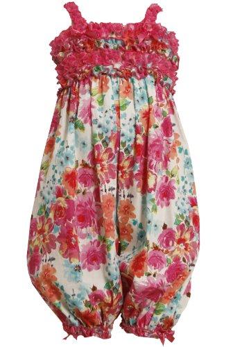 Bonnie Jean Girls 2T-6X Fuchsia-Pink Glittered