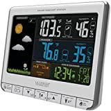 La Crosse Technology 308-1412S Color LCD Wireless Weather Station with USB Charging Port and Customizable Temperature Alerts, White