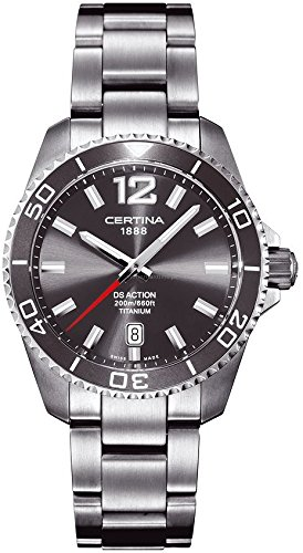 Certina Men's Watch XL Analogue Quartz Titanium c013.410.44.087.00