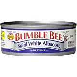 Bumble Bee Solid White Albacore in water, 5 Ounce Tins (Pack of 24)