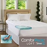 ComforPedic Loft Beautyrest 5.5-Inch Supreme Gel Memory Foam Topper for All Bed Sizes. Combining the 4-Inch Revolutionary Memory Foam Infused with Cool, Rejuvenating Gel Paired with a 1.5-Inch Fiber-Filled Cover Offers Luxurious Comfort and Support. (Twin)