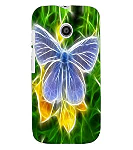 ColourCraft Digital Butterfly Design Back Case Cover for MOTOROLA MOTO E