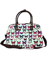 New Oilcloth Polka Dot/Flower/Owl Print Holdall Weekend Travel Bag