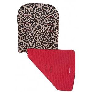 Maclaren Universal Reversible Seat Liner - Leopard Black/ Scarlet