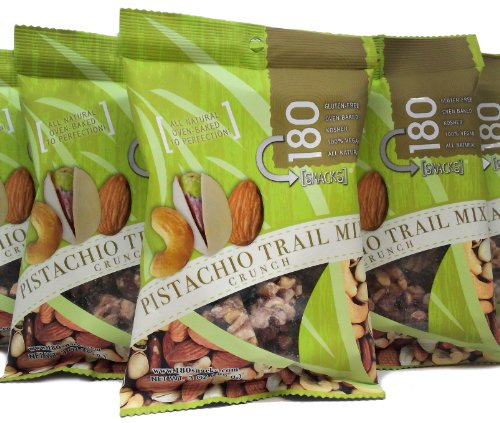 180 Snacks Pistachio Trail Mix Crunch - 3-ounce Pouches (Pack of 8) by Crum Creek