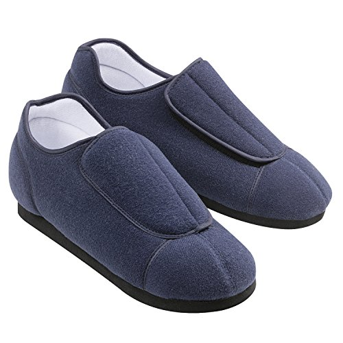 adjustable-comfortable-health-slippers-mens-11-12-navy