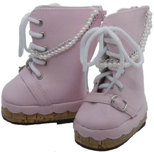 BUYS BY BELLA Pearl and Chains Boots for 18 Inch Dolls Like American Girl - 1