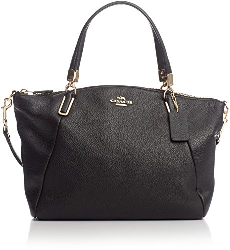 Coach Pebble Leather Small Kelsey Satchel 34493 - Black
