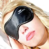 Sleep More® Sleeping Masks for Men, Women or Teens. High Quality Black Satin Eye Mask & Ear Plugs. A Natural Rest Aid for Sleep Disorders/Insomnia and a UNIQUE GIFT Giving Idea for Adults who Travel.