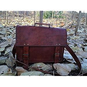 ScotchLeather Genuine Men's Leather Messenger Laptop Briefcase Satchel Mens Bag
