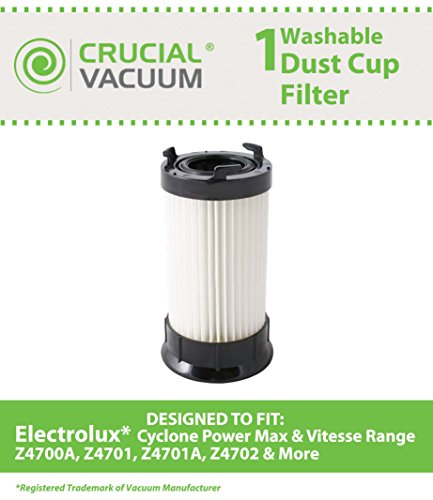 Electrolux Hepa Vacuum Filter Fits Cyclone Power Max & Vitesse Range Z4700a, Z4701, Z4701a, Z4702, Z4702a, Z4701bz, Z4703az, Z5500a, Z5500, Z5501, Z5505, Z5506, Z5510, Z5501a, Z5600 & Z5605, Compare To Part # 9001959-52 & Ef86b, Designed & Engineered By C Picture