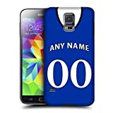 Case Fun Personalised Everton Football Shirt, Any Name, Any Number Snap-on Hard Back Case Cover for Samsung Galaxy S5 (i9600)