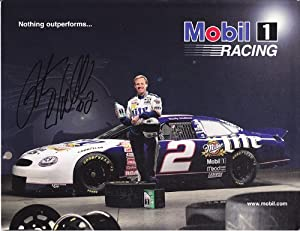 AUTOGRAPHED (Vintage) Rusty Wallace #2 Miller Lite Racing (Mobil 1) SIGNED 9X11... by Trackside Autographs