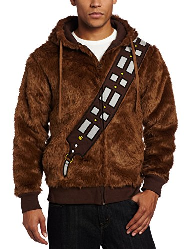 Ya-cos Star Wars Chewie Chewbacca Fur Casual Jacket Cosplay Costume Hoodie Shirt Outfit(Brown)