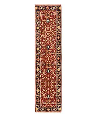 Hand-Knotted Serapi Heritage Wool Rug, Dark Copper, 2' 7 x 10' 1 Runner