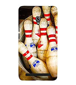SKITTLES BOWLING PINS LYING IN A BARREL 3D Hard Polycarbonate Designer Back Case Cover for Asus Zenfone 6 A601CG :: Asus Zenfone 6 A600CG