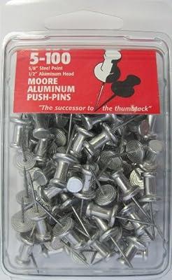 Moore Push-Pin Aluminum Push Pins