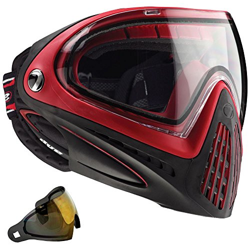 Dye I4 Thermal Paintball Googles W/ Extra Dyetanium Gold Lens - Red